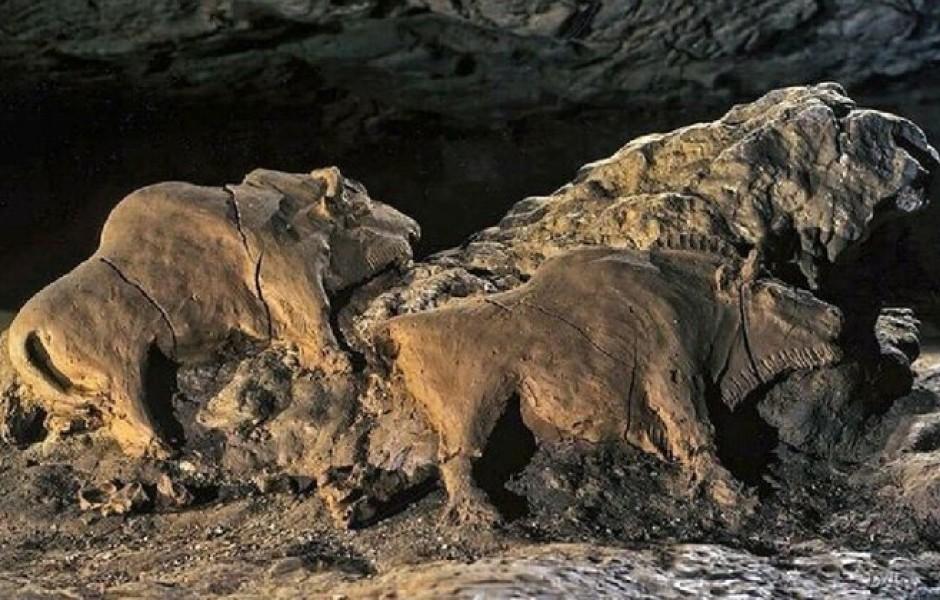 Глиняные зубры возрастом 15 000 лет (4 фото)