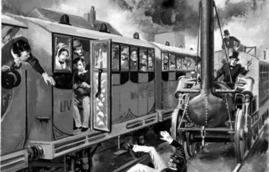 Первая жертва железных дорог