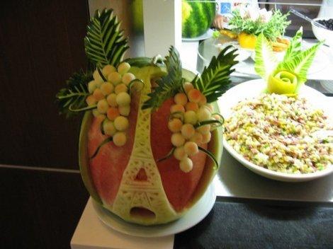 Искусство резьбы по арбузу (8 фото)