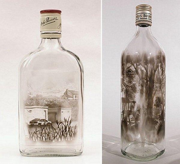 Пейзаж в бутылке от Джима Дингильена (6 фото)