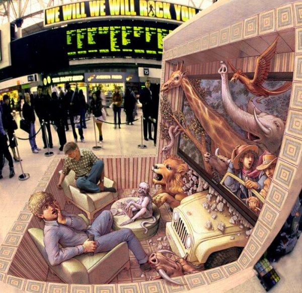 Уличный арт от Курта Веннера (часть 2) (21 фото)