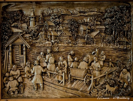 Картины из дерева от  Кронида Гоголева (10 фото)