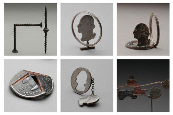 Строительные инструменты из монет (15 фото)