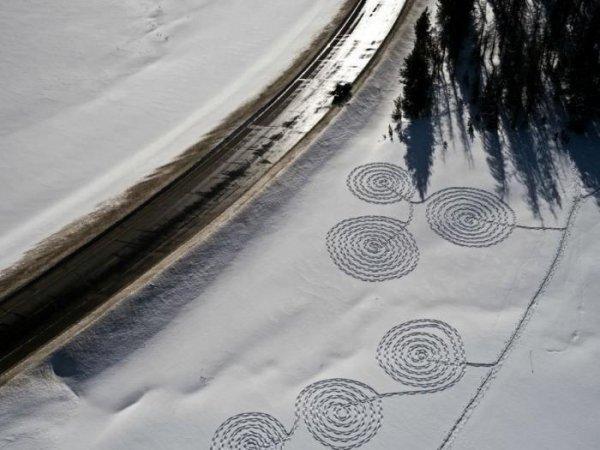 Снежные рисунки от Сони Хинричсен (28 фото)