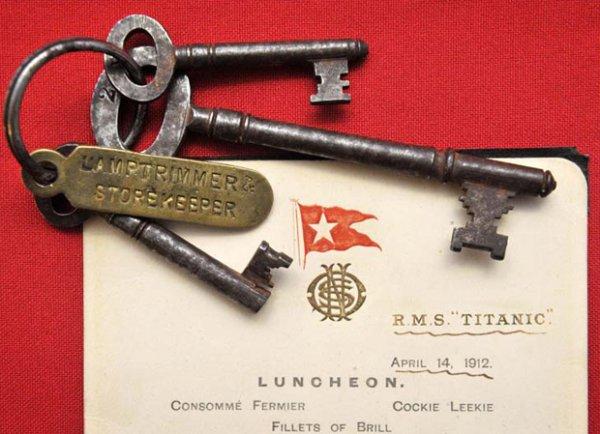 Меню с «Титаника» продано за 76 тысяч фунтов