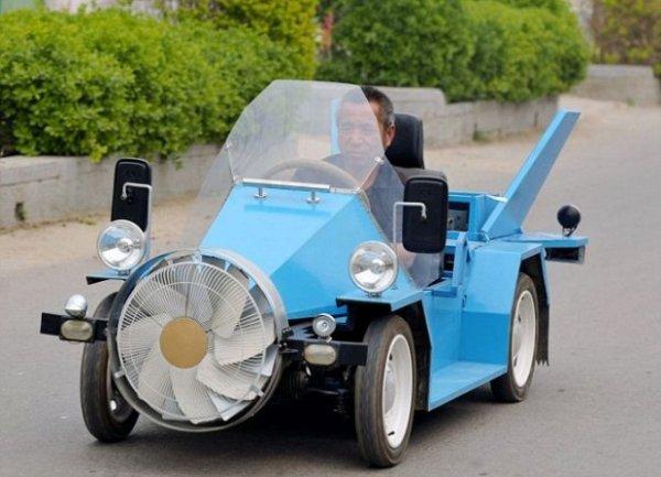 Китаец изобрел автомобиль, работающий от ветра (фото + видео)