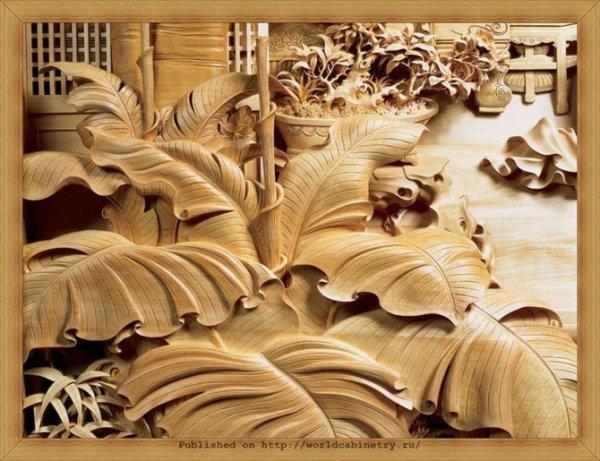 Китайская резьба по дереву (27 фото)