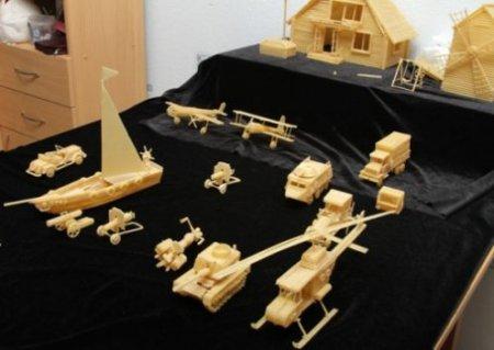 Миниатюрные модели из макарон (7 фото)