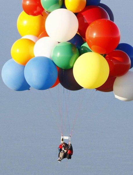 Через Атлантику на воздушных шарах (14 фото)