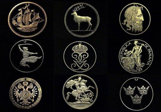 Резьба по монетам (22 фото)