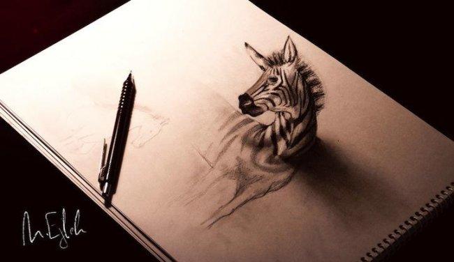 Объемные рисунки, сделанные карандашом (10 рисунков)