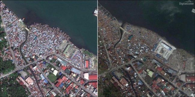 Последствия тайфуна Хайян (8 фото)