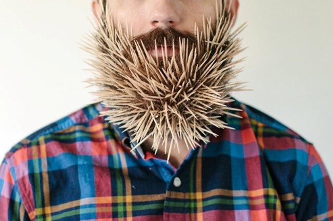 Различные вещи в бороде (10 фото)