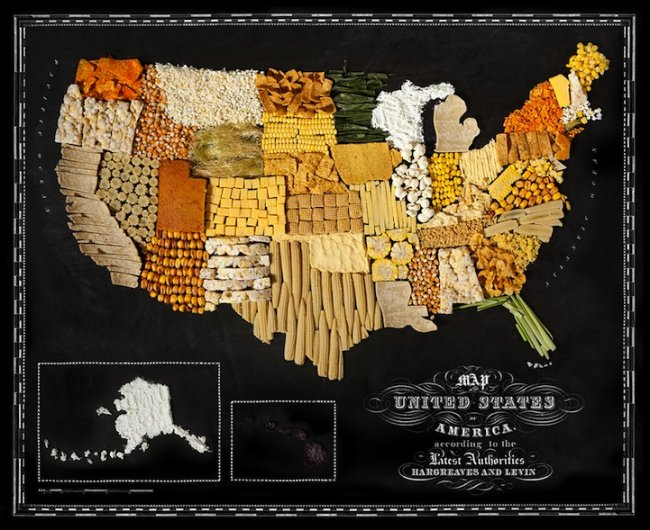 Карта мира из еды (10 фото)