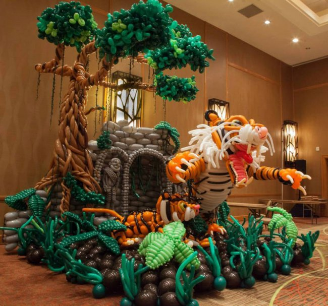 Скульптуры из шаров от Джейсона Секоды (9 фото)