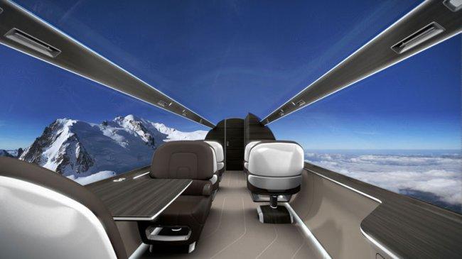 Самолет с прозрачными стенами (14 фото)