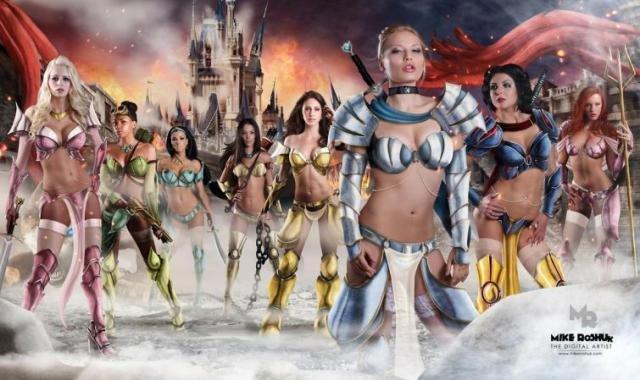 Сказочные принцессы в роли воительниц (9 фото)
