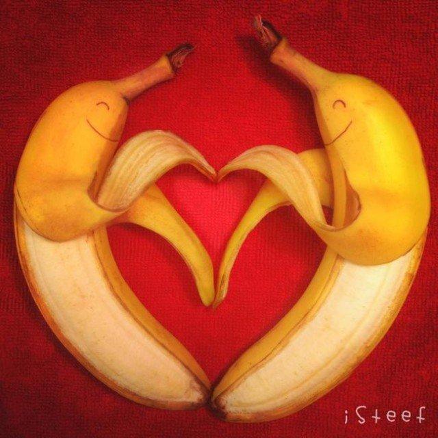 Банановые композиции от Stephan Brusche  (21 фото)
