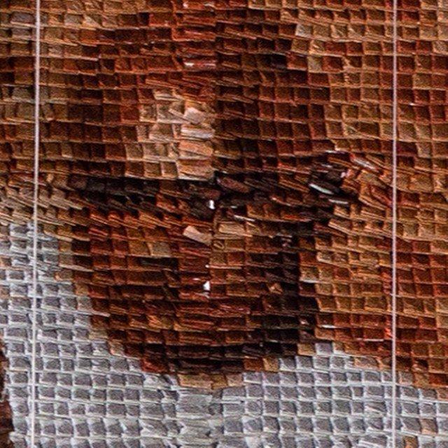 Необычный портрет из чайных пакетиков (9 фото)