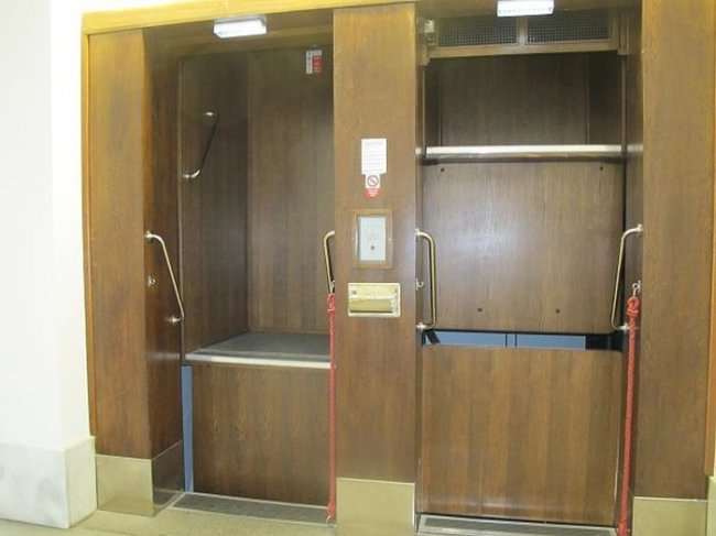 Патерностер - открытый лифт (3 фото)