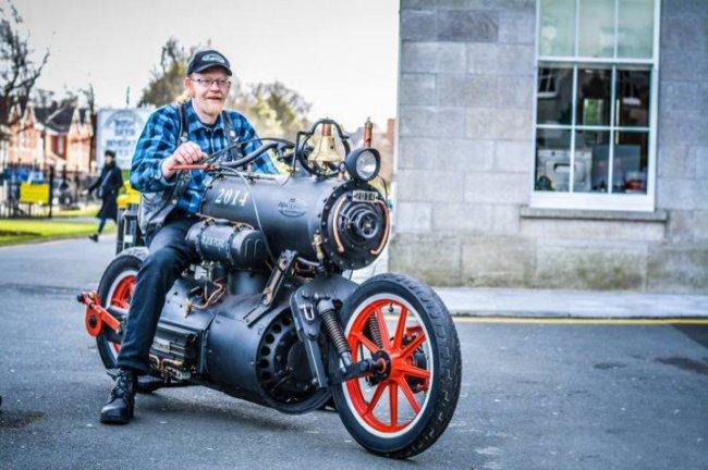 Паровой мотоцикл (фото + видео)