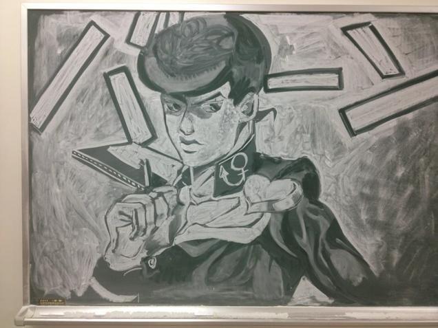 Рисунки мелом по доске от японских школьников (9 фото)