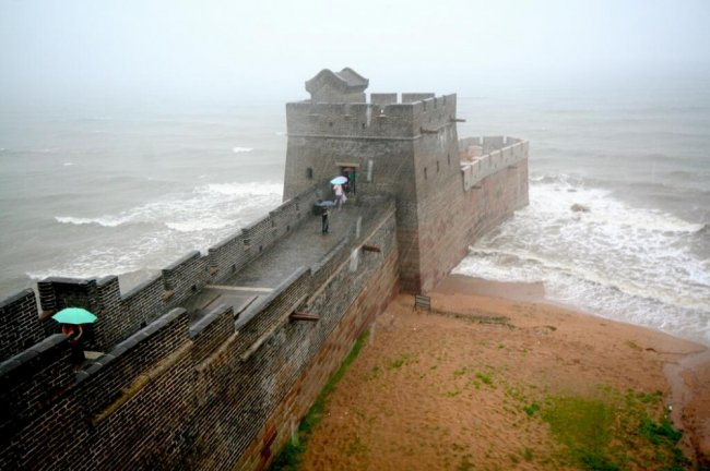 Где начинается Великая Китайская стена?