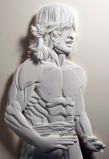 Поразительные скульптуры из бумаги от Джефа Нишинаки  (6 фото)
