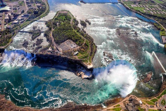 Ниагарский водопад вид сверху (фото дня)
