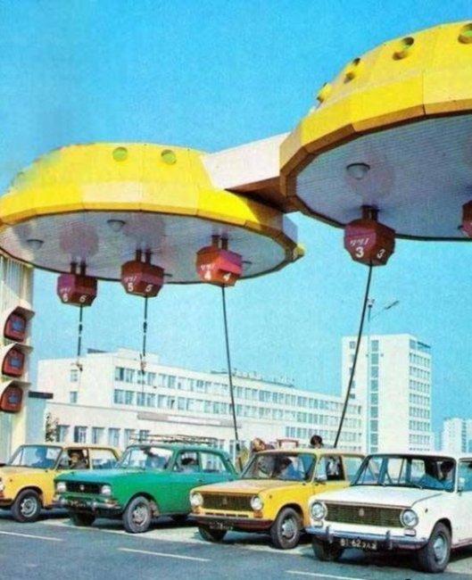 Уникальные заправки СССР  (2 фото)