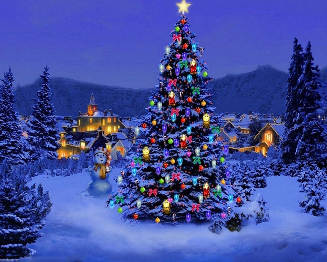 Открытка елка новогодняя