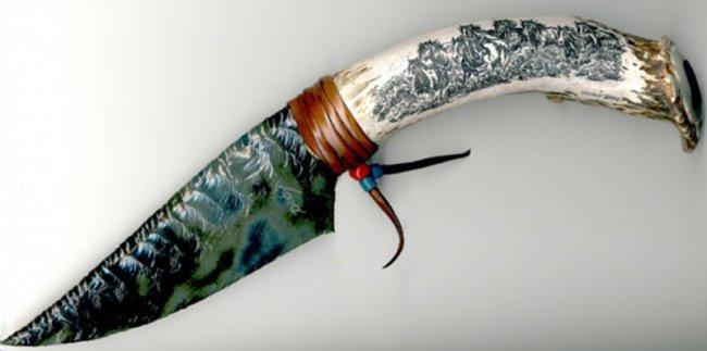 Ножи из вулканического стекла (7 фото)