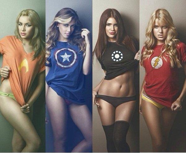 Сексуальные супергероини (18 фото)