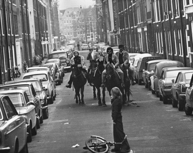 Топливный кризис в Амстердаме в 1973 году (фото дня)
