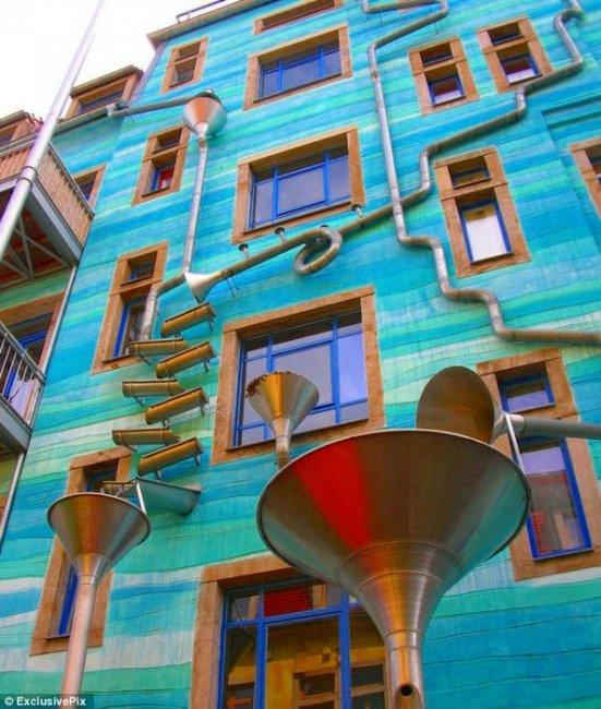 Поющий дом в Германии (3 фото + видео)