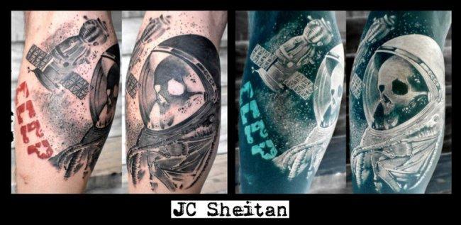 Художник делает татуировки протезом (9 фото)