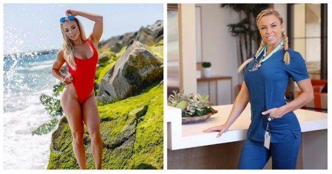 42d262f24d0f Лорен Дрейн из Флориды, США, претендующая на звание «самой горячей  медсестры в мире», говорит, что следование правильной диете и режиму  тренировок может ...