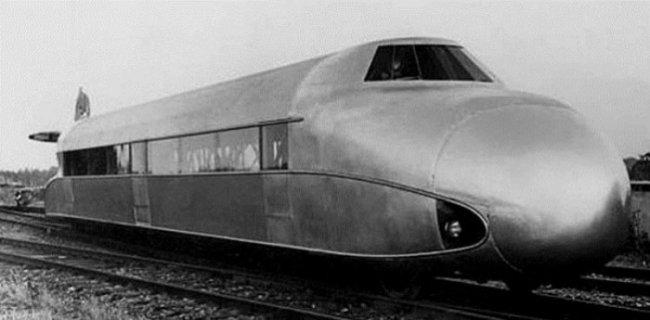 Авто - факт: Шиненцеппелин - самый легкий и быстрый поезд довоенного времени