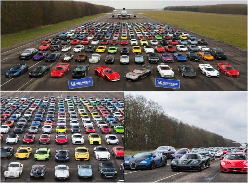 300 суперкаров в Англии. Благотворительная акция.