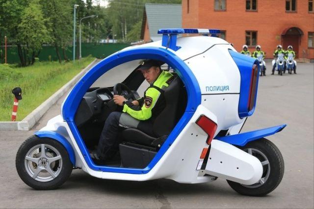 Новый транспорт полицейских Москвы