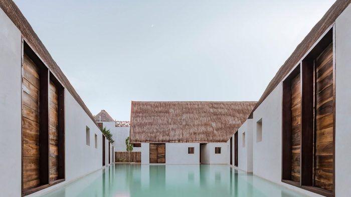 Плавающий отель в Мексике