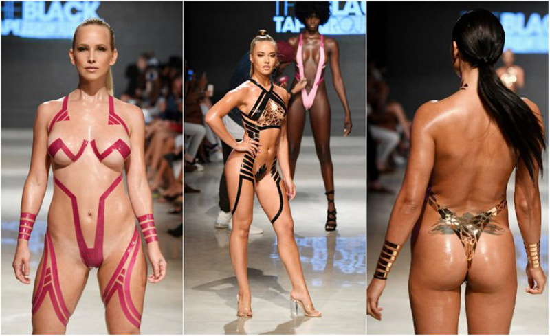 Модный тренд: купальники из изоленты