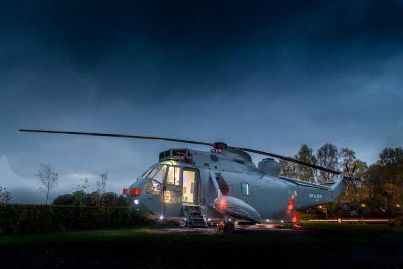 Необычный отель в вертолете