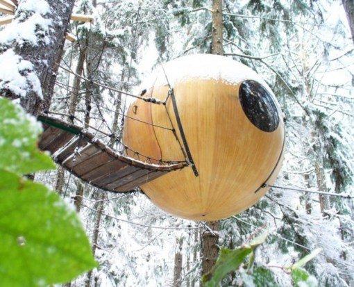 мини район из зданий сферической формы