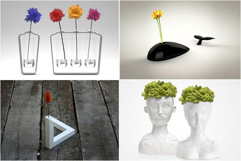 Самые необычные цветочные вазы