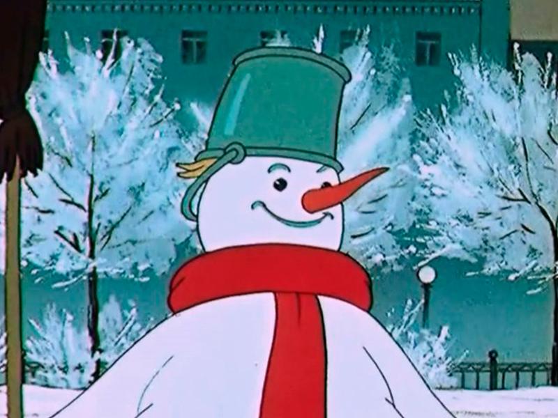 Новогодний снеговик картинки из советских мультфильмов