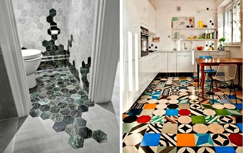 Необычные идеи отделки керамической плиткой