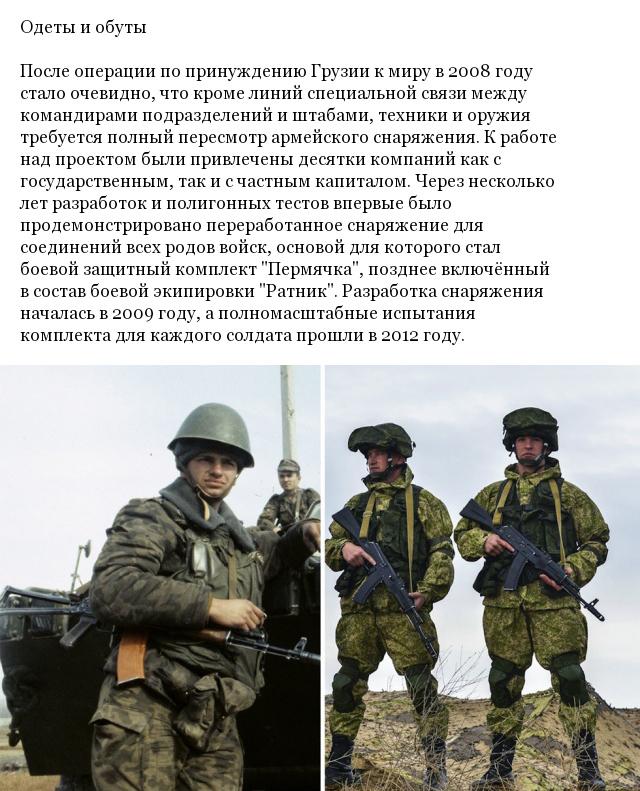 Армия России сегодня и 10 лет назад