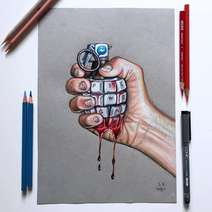Карикатуры о проблемах современного мира