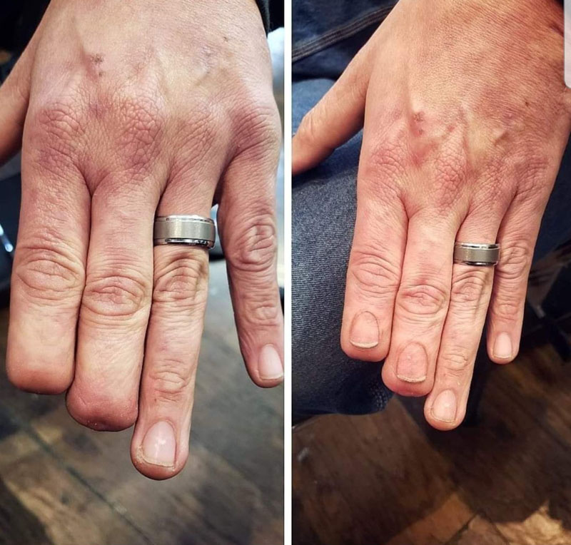 Гиперреалистичная татуировка ногтей художника Эрика Каталано